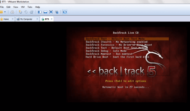 backtrack vmware