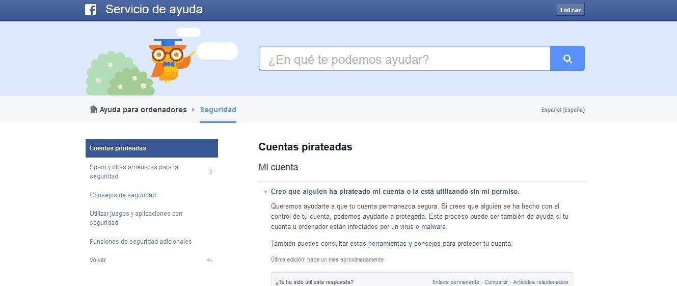 cuenta hackeada facebook 2