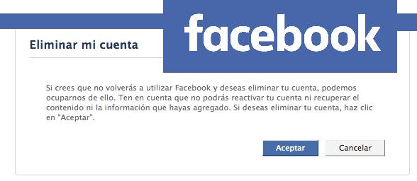 eliminar tu cuenta de facebook