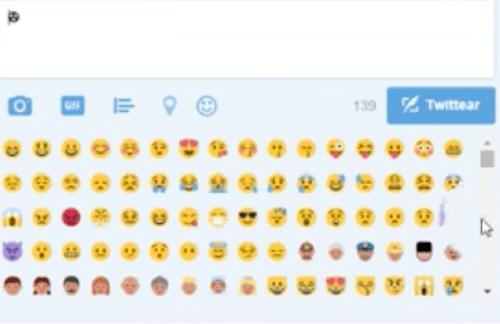 Emoji oscuro Twitter
