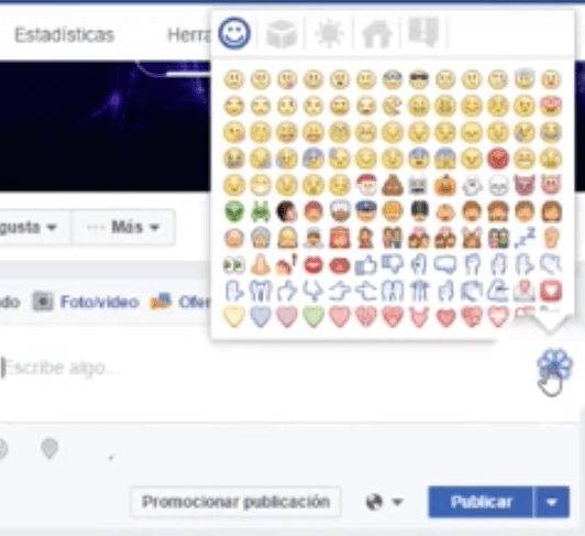 Emoticones en Facebbok