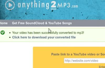 La canción está lista para descargar