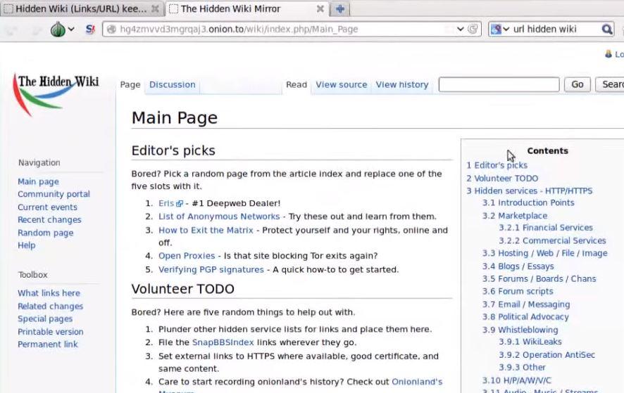 la hidden wiki en thor tails