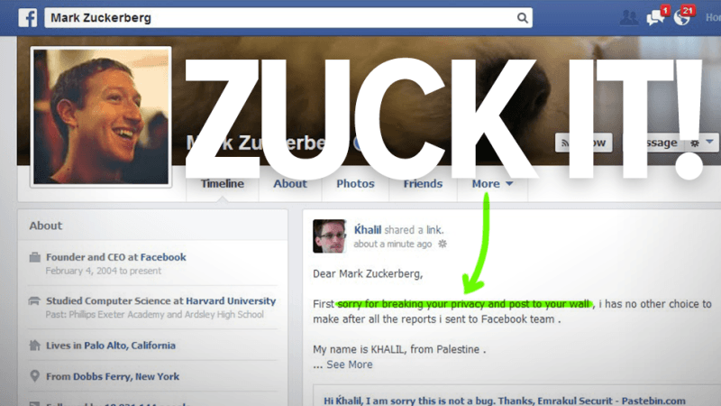 mark zuckerberg hackeado en facebook