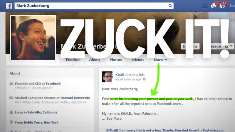 mark zuckerberg hackeado en facebook