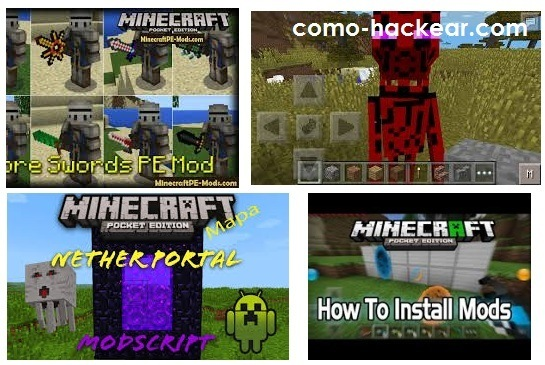 mods para juego minecraft pocket edition pe