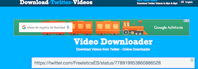 Pegar en Download Twitter Video