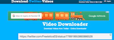 Pegar en Download Twitter Video