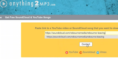 Pegar enlace de Soundcloud