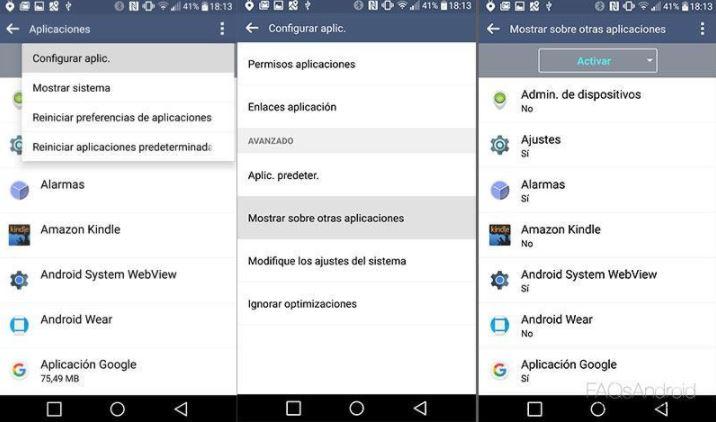 Superposición de pantalla Android