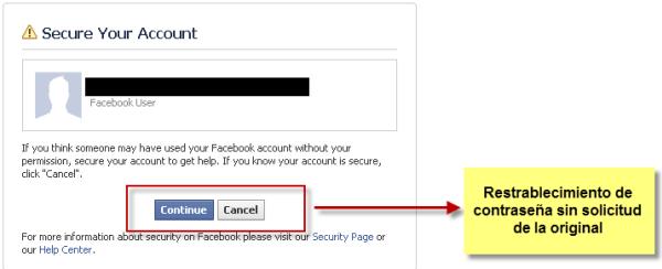 truco robar facebook olvidar contraseña